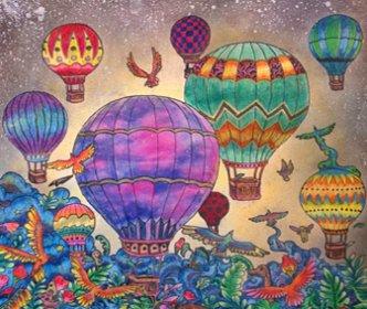 -шары-332x280 Рисовака - бесплатные раскраски и уроки для начинающих художников