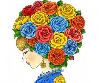 -девушка-332x280 Рисовака - бесплатные раскраски и уроки для начинающих художников