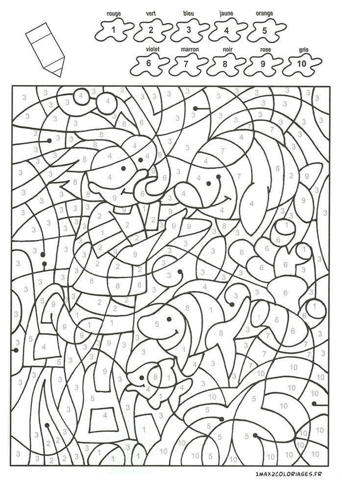 бесплатно раскраски по номерам для детей