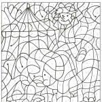детям бесплатные раскраски номерам