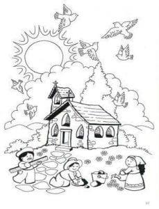 для детей раскраски по православию