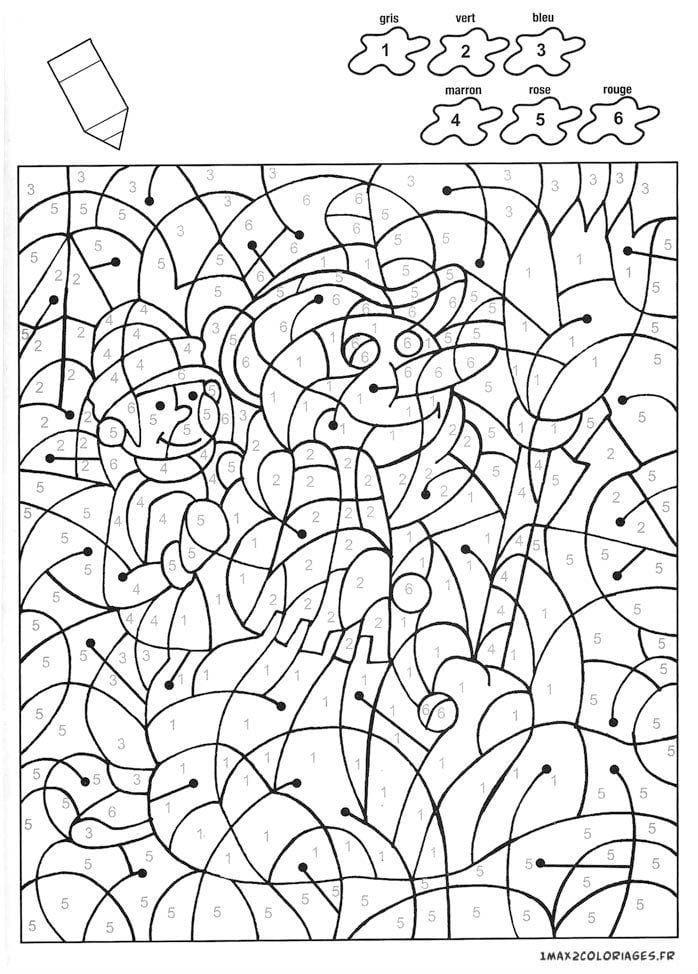 для детей распечатать бесплатно раскраски по номерам