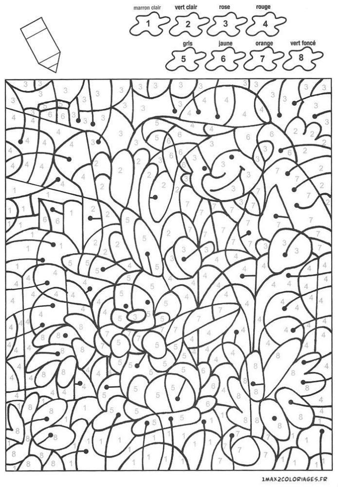 крупные раскраски по номерам для детей распечатать