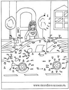 обведи рисунок по точкам для детей