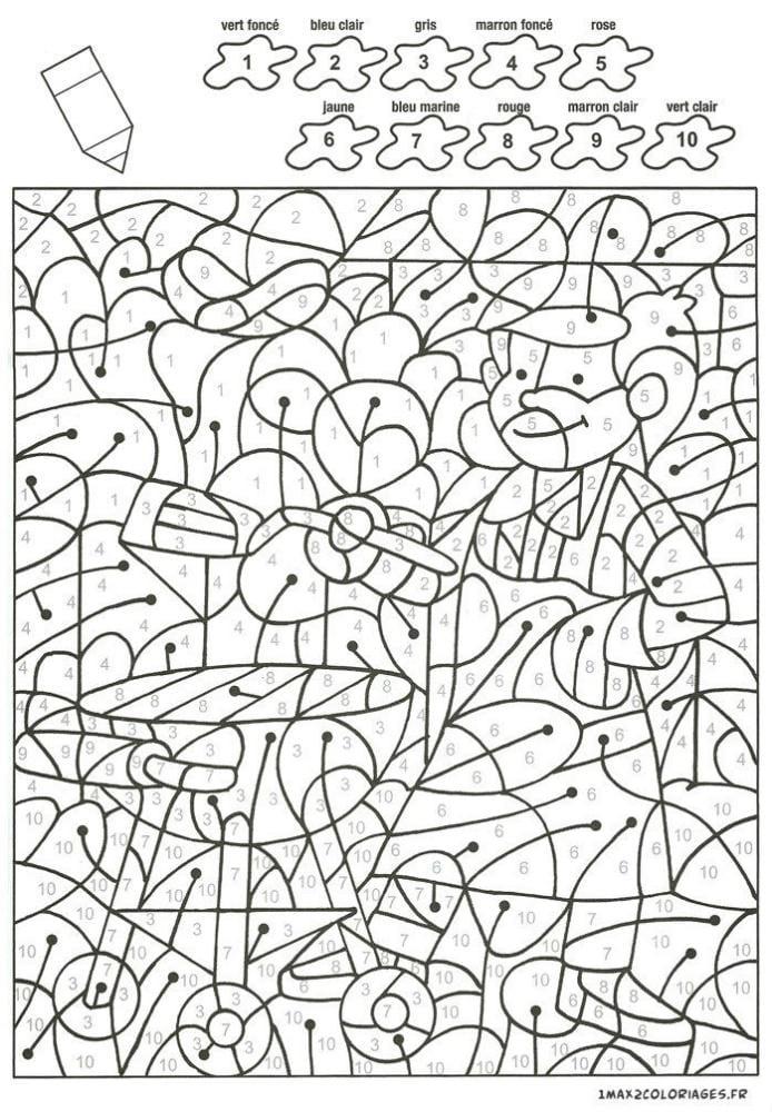 по номерам для детей распечатать крупные раскраски