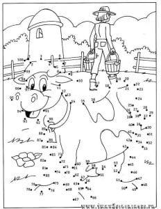по точкам для детей обведи рисунок