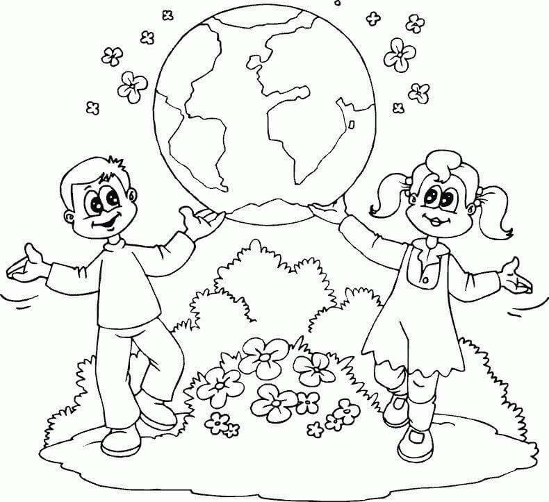 Мы за мир на всей планете раскраска