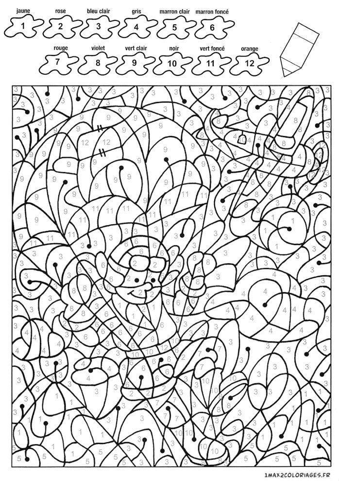 с номерами цветов раскраски для детей