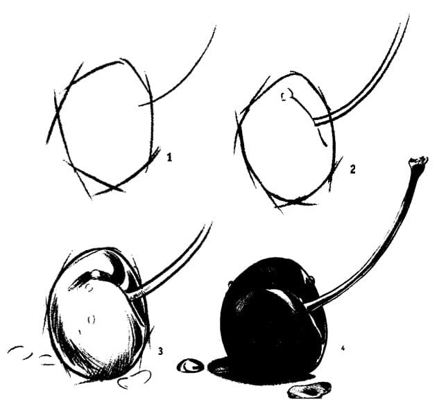 Как красиво нарисовать фрукты карандашом?