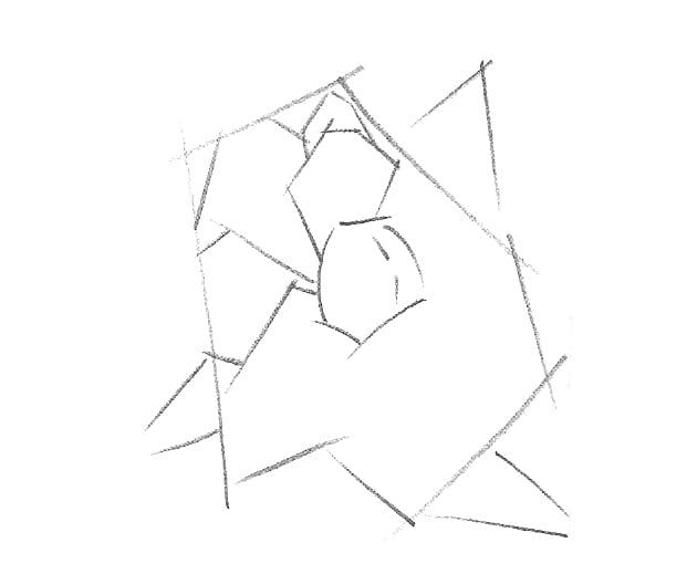 -шаг-1 Как нарисовать цветы карандашом