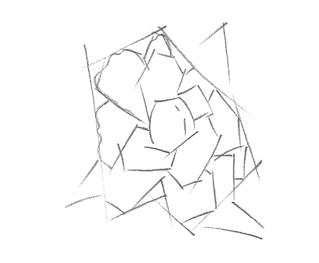 -шаг-2 Как нарисовать цветы карандашом