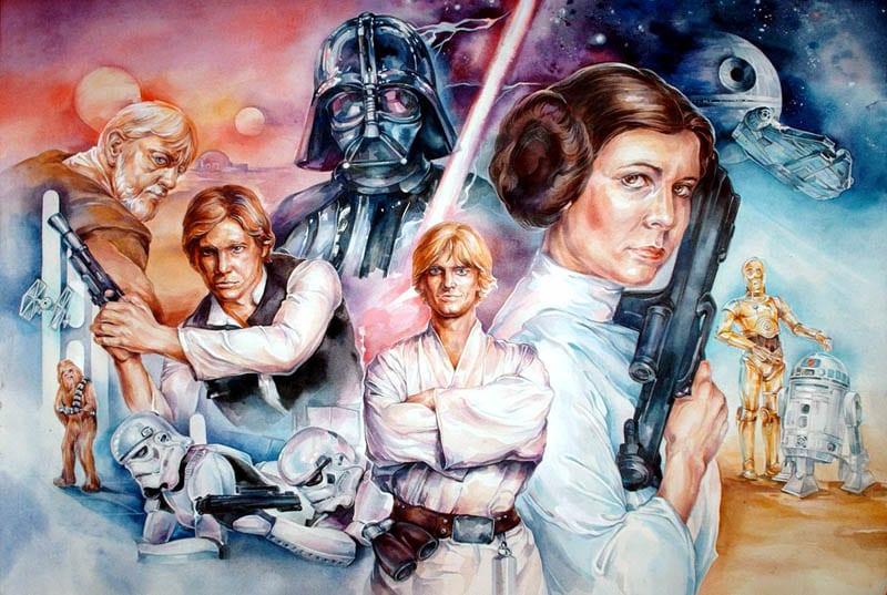 Рисунки по звёздным войнам