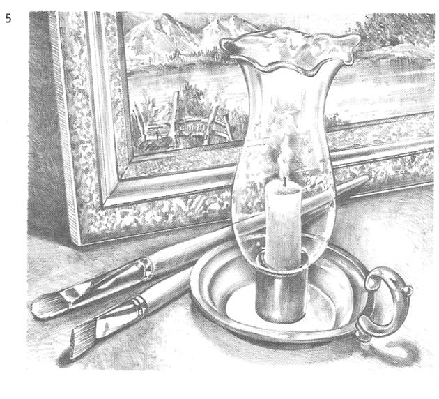-итоговый-вариант Как нарисовать свечу карандашом