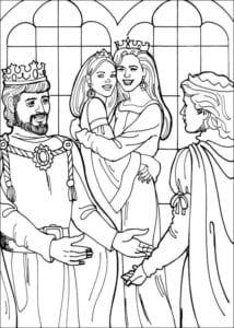 Принцесса Леонор раскраска бесплатно (10)