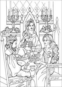 Принцесса Леонор раскраска бесплатно (11)
