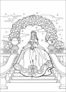 Принцесса Леонор раскраска бесплатно (12)