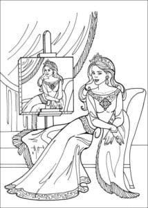 Принцесса Леонор раскраска бесплатно (14)