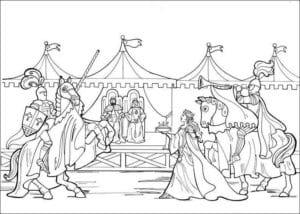 Принцесса Леонор раскраска бесплатно (16)