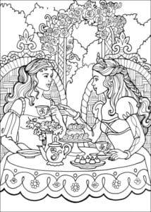 Принцесса Леонор раскраска бесплатно (17)