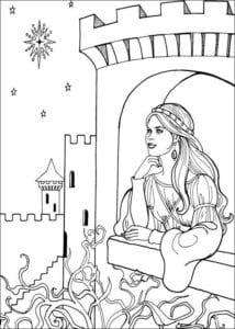 Принцесса Леонор раскраска бесплатно (19)