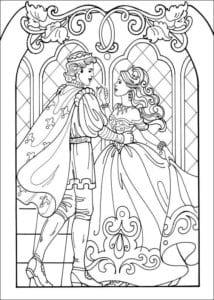Принцесса Леонор раскраска бесплатно (20)