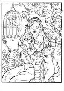 Принцесса Леонор раскраска бесплатно (21)