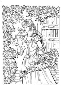 Принцесса Леонор раскраска бесплатно (22)