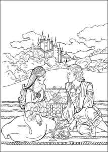 Принцесса Леонор раскраска бесплатно (25)