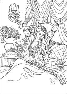 Принцесса Леонор раскраска бесплатно (26)