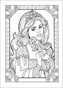 Принцесса Леонор раскраска бесплатно (8)