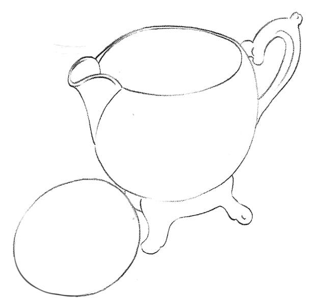 -контуры-яйца Как нарисовать отражение и кружева