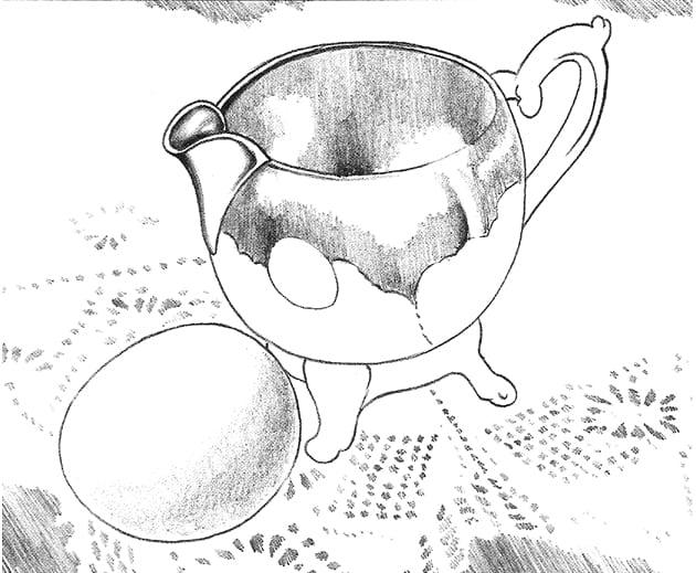 -шаг Как нарисовать отражение и кружева