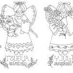 ангелов православные для детей раскраски бесплатно