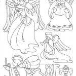 ангелов православные для детей раскраски