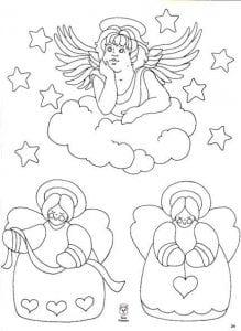 ангелов с крыльями красивые раскраски 1