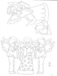 ангелы картинки для детей раскраски 1