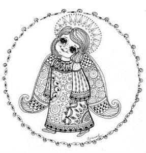 -картинки-для-детей-раскраски-287x300 Ангел-хранитель