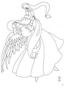 ангелы раскраска для воскресной школы 1