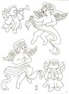 ангелы раскраски антистресс бесплатно