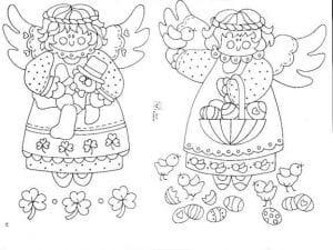 ангелы раскраски антистресс 1