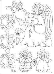 ангел божий распечатать раскраска 1