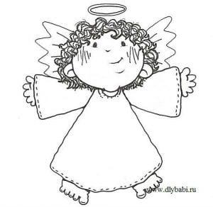 ангел божий распечатать раскраска