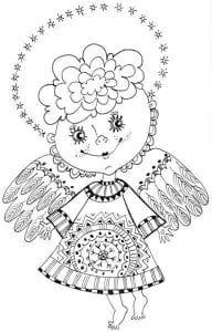 ангел раскраска для детей бесплатно