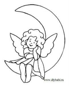 ангел раскраска для детей