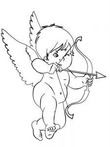 ангел раскраска бесплатно