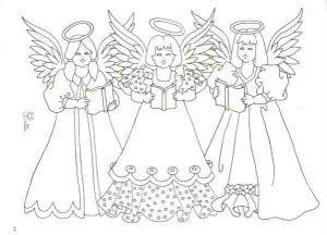 ангел раскраска распечатать
