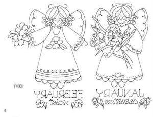 ангел хранитель раскраска для детей