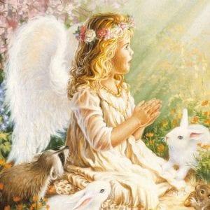 Ангел-хранитель раскраски