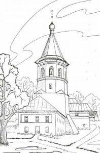 бесплатно чудеса божии раскраски церковь и храм православие 1