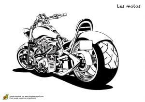 для детей мотоцикл раскраска